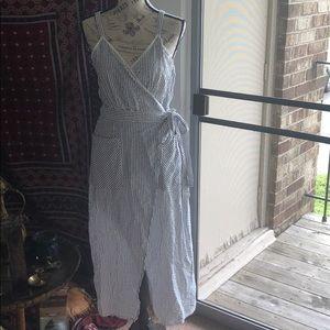 Zara cross bodycon new dress